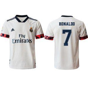 Real Madrid Cristiano Ronaldo White 20-21 Jersey